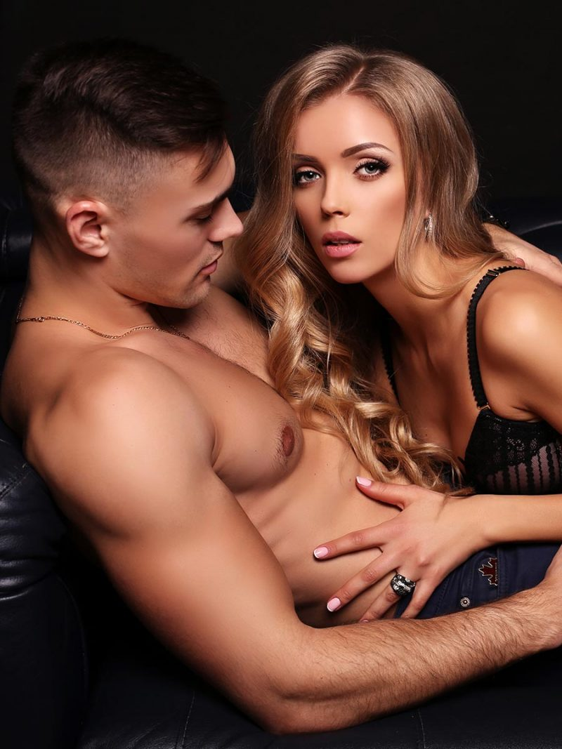 Sexy couple during lovemaking